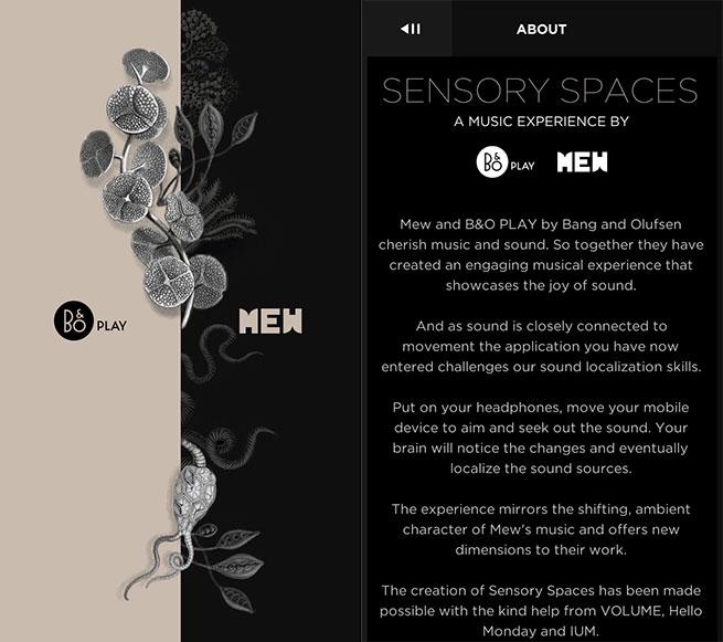 Sensory Spaces Intro Screen