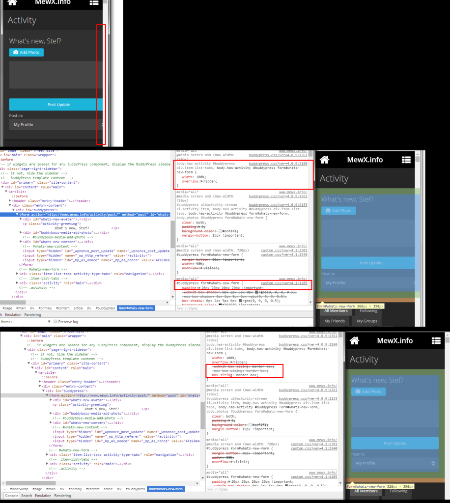 A minor CSS suggestion… I'm uber-nerding here, I realise… Anyway, on mobile, the p