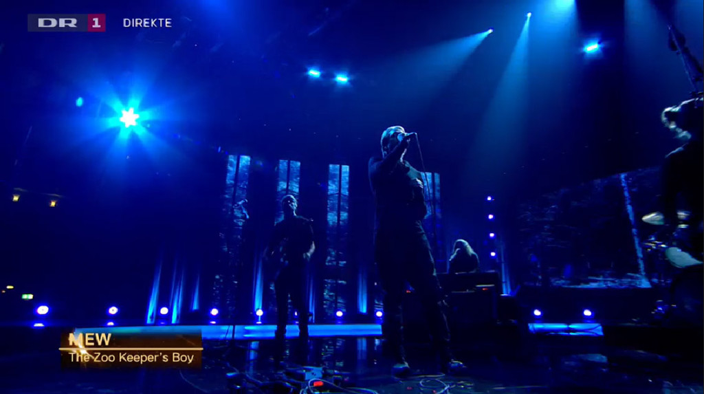 Mew played at the very end of the sports awards show. They had a really impressive stage set up! We