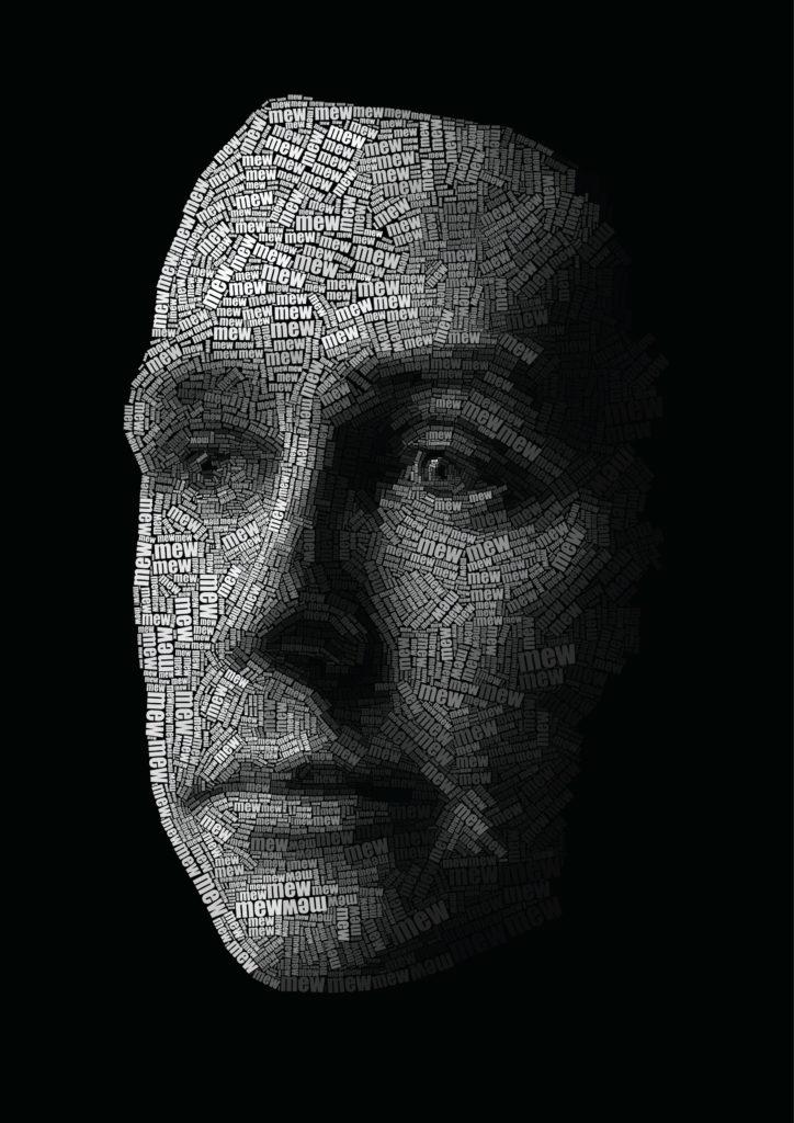 Jonas digital artwork! Caligráma